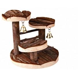 """61640 Лесенка """"TRIXIE"""" для грызунов, с платформами, нат дерево 14х14 см."""