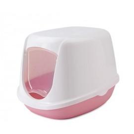 200000WX Туалет-домик SAVIC, DUCHESSE 44,5x35,5x32см, белый-розовый