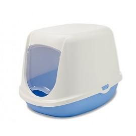 20000WPB Туалет-домик SAVIC, DUCHESSE 44,5x35,5x32см, белый-голубой