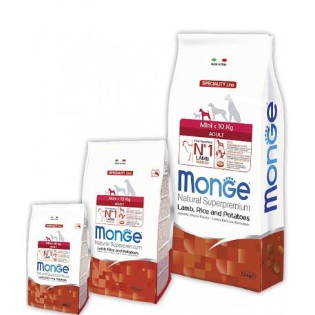 Monge Adult Mini Lamb, Rice and Potatoes - сухой корм для взрослых собак мелких пород (с ягненком, рисом и картофелем)