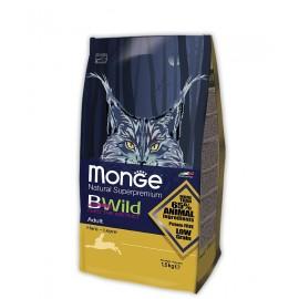 Monge Cat BWild Adult Hare - низкозерновой корм с мясом зайца