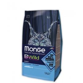 Monge Cat BWild Adult Anchovies - низкозерновой корм с анчоусами для взрослых кошек