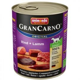 Gran Carno Fleisch Adult - с говядиной и ягнёнком (упаковка 12 штук)