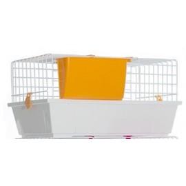 Клетка Voltrega 933 для кролика, белая, 58x36x31 см