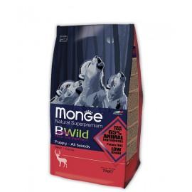 Monge BWild Dog Puppy Deer - сухой корм с мясом оленя для щенков