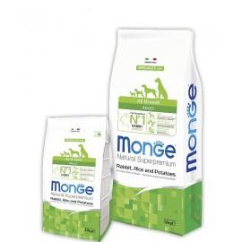 Monge Dog Speciality Rabbit/Rice All Breeds - сухой корм для взрослых собак всех пород (кролик, рис и картофель)
