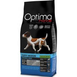 Optima Nova Puppy Medium Chicken&Rice - cухой корм для щенков средних пород с курицей и рисом