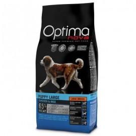 Optima Nova Puppy Large Chicken&Rice - сухой корм для щенков крупных пород с курицей и рисом