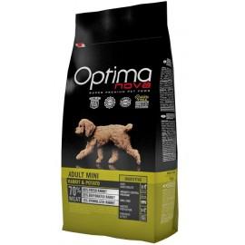 Optima Nova Adult Mini Rabbit&Potato -беззерновой корм для собак мелких пород с проблемами пищеварения с кроликом икартофелем