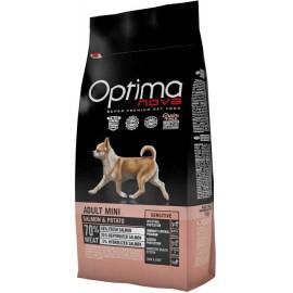 Optima Nova Adult Mini Sensitive Salmon&Potato - беззерновой корм для мелких пород с чувст. пищеварением с лососем и картофелем
