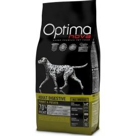 Optima Nova Adult Digestive Rabbit&Potato - беззерновой корм для собак с проблемами пищеварения с кроликом икартофелем