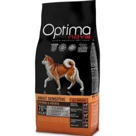 Optima Nova Adult Sensitive Salmon&Potato - беззерновой корм для собак с чувствительным пищеварением с лососем и картофелем