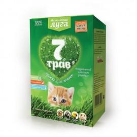 """A202 Травка для кошек """"Альпийские луга 7 трав"""" (лоток), 75г"""