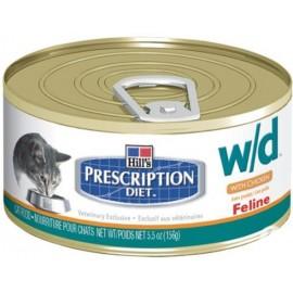 Консервы Hill's PD Feline w/d - при избыточном весе, заболеваниях ЖКТ, мочекаменной болезни, 156 г (упаковка 12 штук)