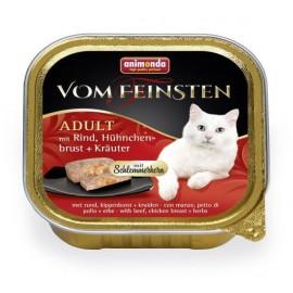 """Animonda Vom Feinsten Adult """"Меню для гурманов"""" с говядиной, курицей и травами, 100г"""