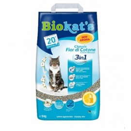 Biokat's Classic 3in1 Cotton Blossom (с ароматом хлопка ), 5кг (на 20 дней)