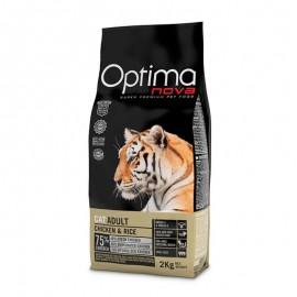 Optima Nova Adult Chicken&Rice - сухой корм для кошек с курицей и рисом