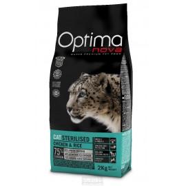 Optima Nova Sterilised Chicken&Rice - сухой корм для стерилизованных кошек, с курицей и рисом
