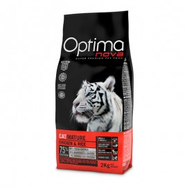 Optima Nova Mature Chicken&Rice - сухой корм для пожилых кошек старше 7 лет, с курицей и рисом
