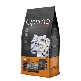 Optima Nova Adult Salmon&Rice - сухой корм для кошек, с лососем и рисом