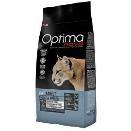 Optima Nova Adult Rabbit&Potato - сухой беззерновой корм для кошек с кроликом