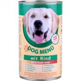 DOG Menu полнорационный консервированный корм для собак, с говядиной (40 штук по 415г.)