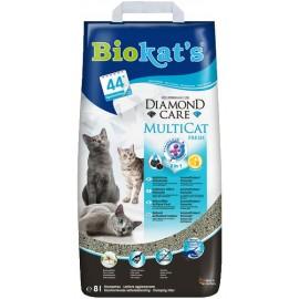 Biokat's Diamond Care Multicat (с активированным углем), 8л