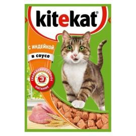 Пресервы Kitekat с индейкой в соусе (упаковка 24 штуки по 100г)