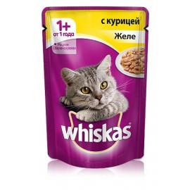Пресервы Whiskas с курицей в желе для взрослых кошек, упаковка 24 штуки по 85г