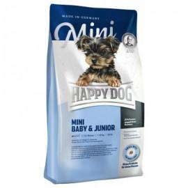 Happy Dog Mini Baby & Junior - корм для щенков мелких пород собак до 10 кг с 4 недель (птица, лосось и моллюск)