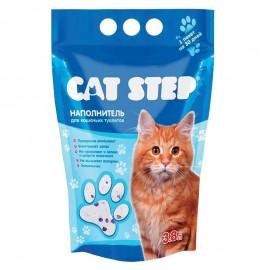 Cat Step - силикагелевый наполнитель для кошек, 3,8л.