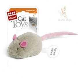 """Игрушка """"GiGwi"""" для кошек """"Мышка"""" со звуковым чипом, плюш, 6 см (арт.75040)"""