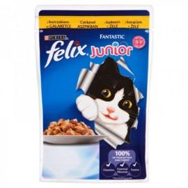 FELIX влажный корм c курицей в желе для котят (упаковка 24 штуки по 85г)