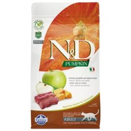 Farmina Беззерновой Тыква, оленина с яблоком / N&D CAT PUMPKIN VENISON&APPLE ADULT