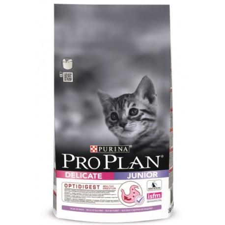 Pro Plan Junior Delicate - корм для котят с чувствительным пищеварением (индейка и рис)