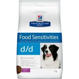 Hill's Prescription Diet d/d Food Sensitivities для собак (утка, рис)