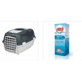 """Набор 39821 Переноска """"TRIXIE"""" Traveller Capri II для мелких животных до 8 кг + К107 Cliny Паста для вывода шерсти, 30 мл"""