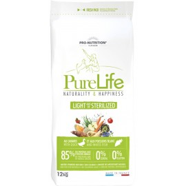 Flatazor PURE LIFE LIGHT/STERILISED - полнорационный корм для стерилизованных/склонных к полноте собак (утка и белая рыба)