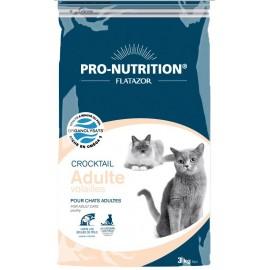 Flatazor CROCKTAIL ADULT VOLAILLES - корм для кошек для профилактики комков шерсти в желудке (курица, утка и индейка)