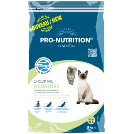 Flatazor CROCKTAIL SENSITIVE - беззерновой корм для кошек c чувствительным желудком (лосось, курица, утка и индейка)
