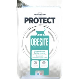 Flatazor PROTECT OBESITE - лечебно-профилактический корм для кошек, склонных к излишнему весу (курица, утка, индейки)