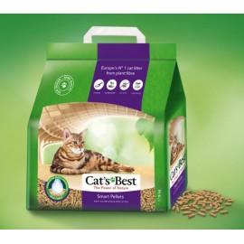 Cat's Best Smart Pellets - древесный комкующийся наполнитель, гранулы, суперпоглощение влаги, для длинношерстных кошек, 10л