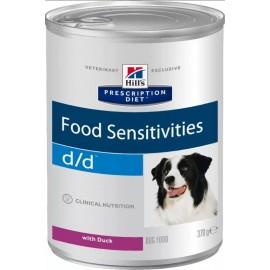 Консервы Hill's PD Canine d/d Duck & Rice - для собак для лечения аллергии с уткой и рисом, 370 г