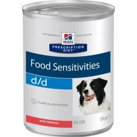 Консервы Hill's PD Canine d/d Salmon & Rice - для собак для лечения аллергии с лососем и рисом, 370 г (упаковка 12 штук)