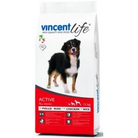 Vincent Life Active Chicken & Rice - корм для активных собак с курицей и рисом