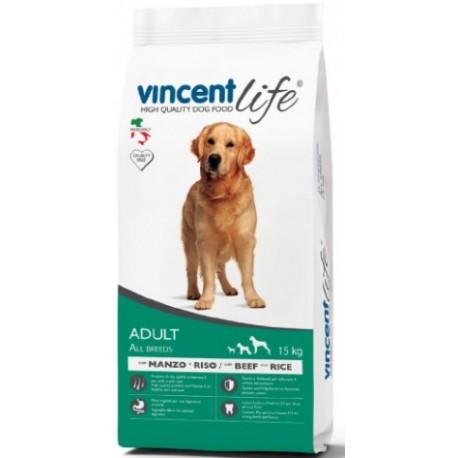Vincent Life Beef & Rice - корм для собак с говядиной и рисом