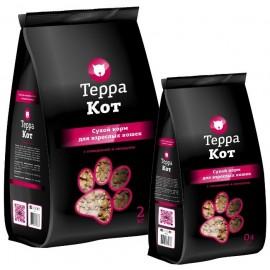 Терра-Кот - корм для взрослых кошек с говядиной и овощами