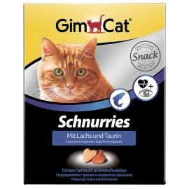 Gimpet Schnurries Витаминизированные сердечки с таурином и лососем для кошек (650шт)