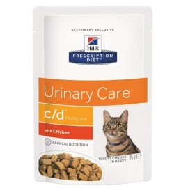 Пресервы Hill's PD Feline с/d Chicken - для кошек для лечения мочекаменной болезни с курицей, 85 г (упаковка 12 штук)