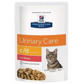 Пресервы Hill's PD Feline с/d Salmon - для кошек для лечения мочекаменной болезни с лососем, 85 г (упаковка 12 штук)